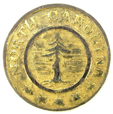 War Button With A Tree In The Center